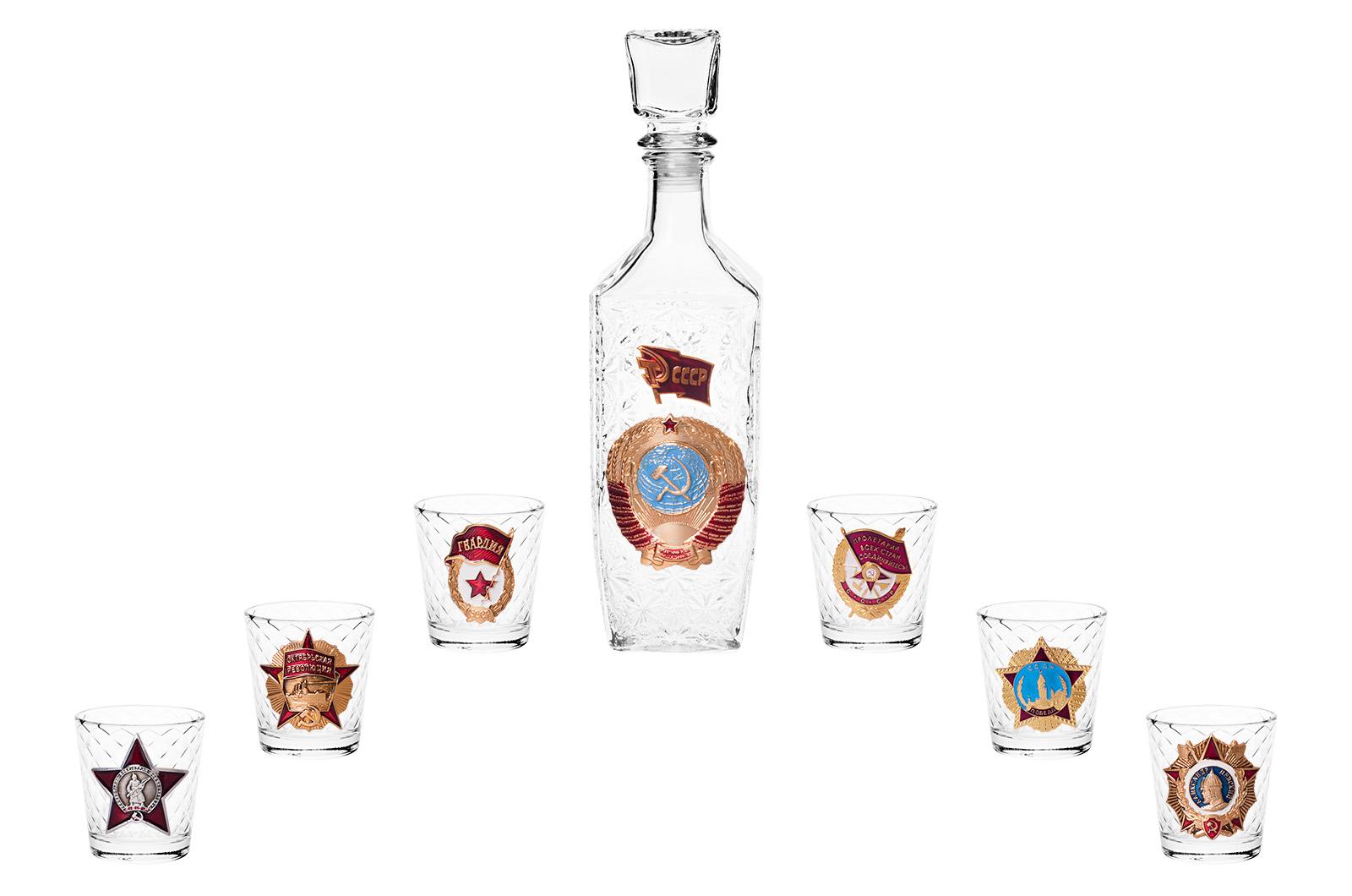 """Набор для алкогольных напитков """"Советские награды"""" с доставкой"""