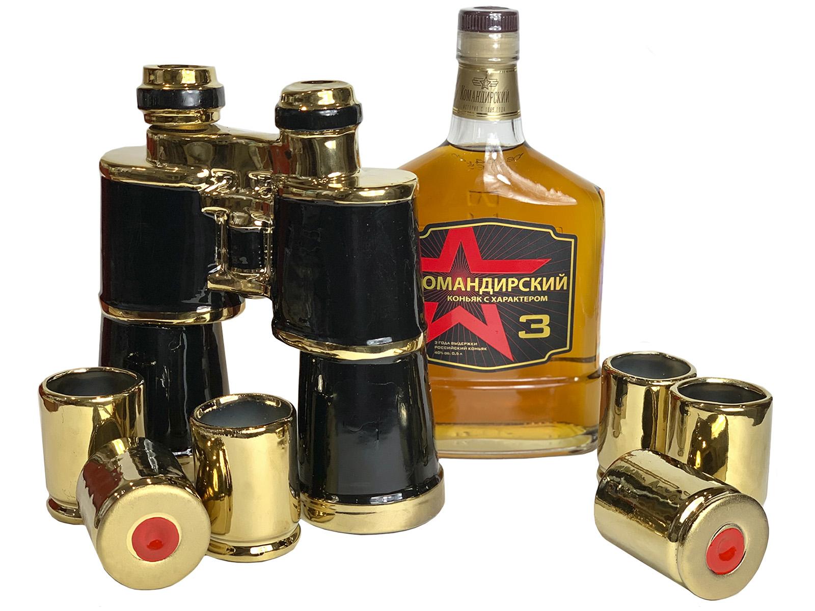 Набор для алкоголя графин и 6 стопок из керамики