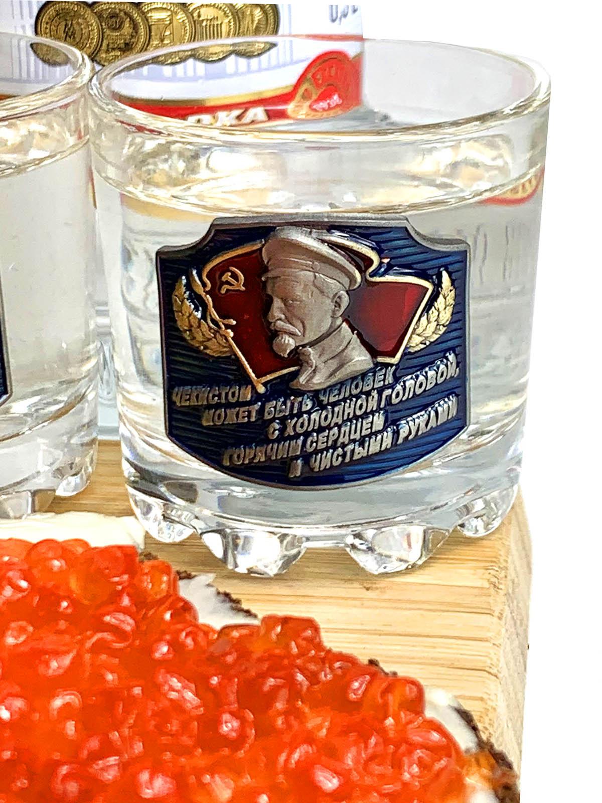 Набор для алкоголя ВЧК-КГБ-ФСБ пивная кружка + водочные стопки