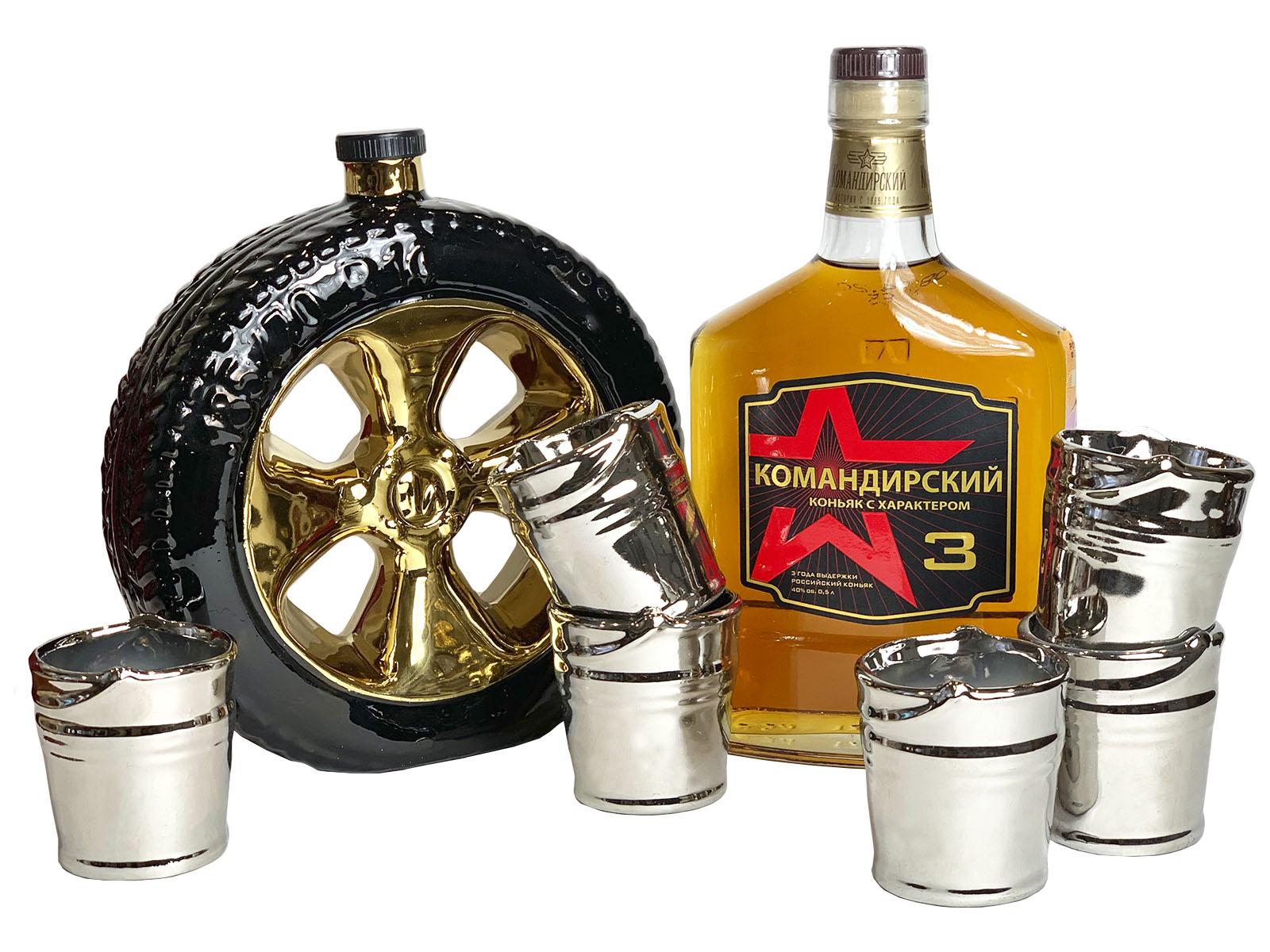 Подарочный набор для алкоголя мини-бар на 6 персон Запаска
