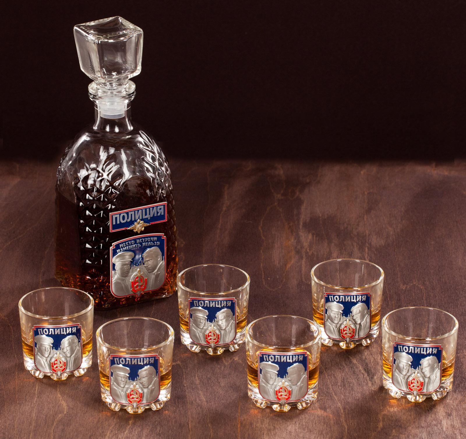 """Набор для крепких напитков """"Полиция"""" (графин +6 стопок) с доставкой"""