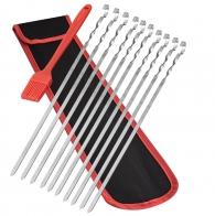 Набор для шашлыка 460 мм (10 шампуров, щеточка, чехол)