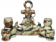 Сувенирный набор для водки Адмирал штоф и 6 рюмок