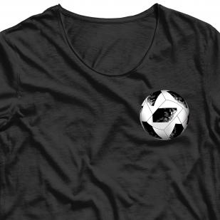 Фанатская аппликация термонаклейка мяч (5,8 х 5,8 см)