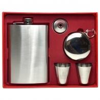 Подарочный набор: фляжка из нержавеющей стали, стаканчик, стопки, воронка
