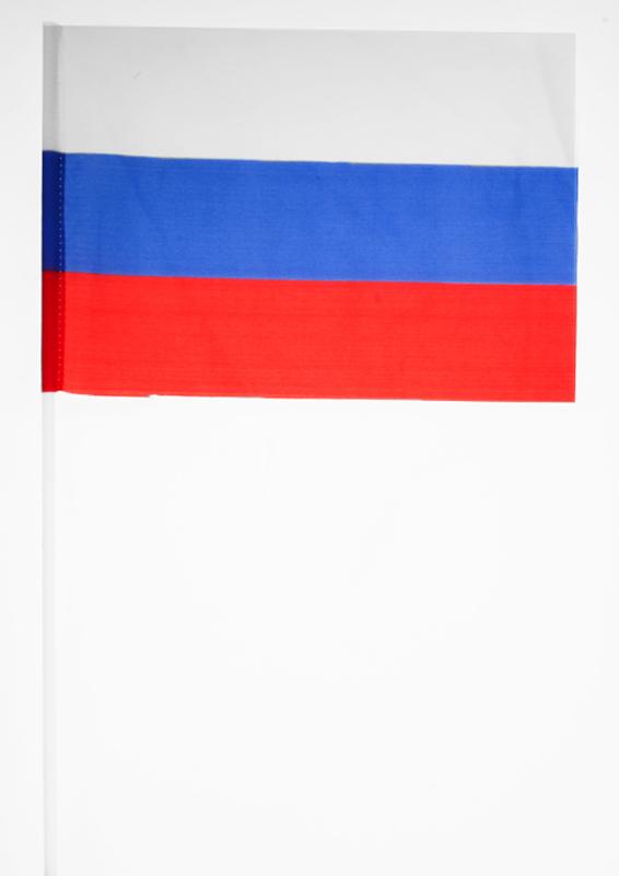 Флаг России на палочке (15х23 см)