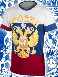 "Футболка ""From Russia with love"" (размеры с 44 (XS) по 58 (4XL))"