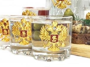 Подарочный водочный набор Герб России