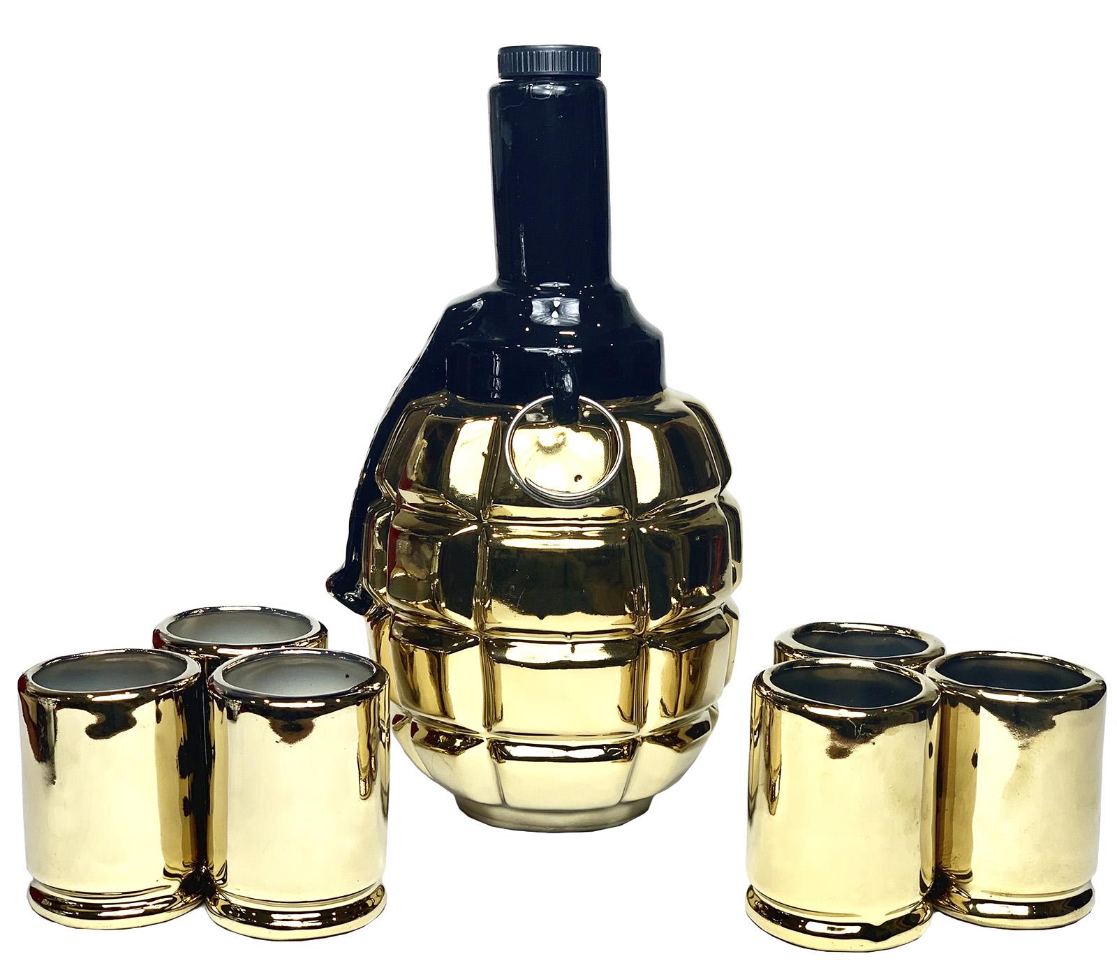 Эксклюзивный подарочный набор Ручная граната штоф и 6 стопок