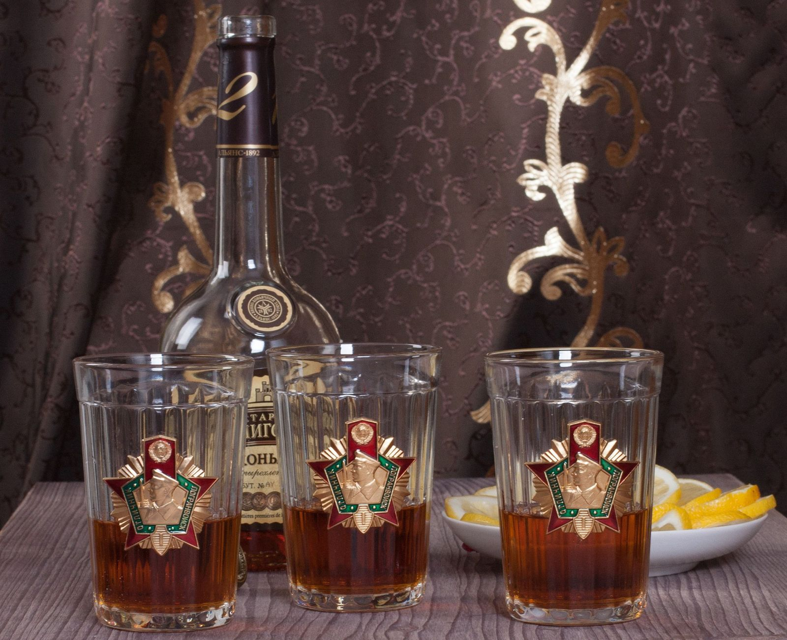 """Подарочный набор стаканов """"Погранец"""""""