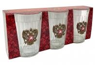 Набор гранёных стаканов с гербом РФ