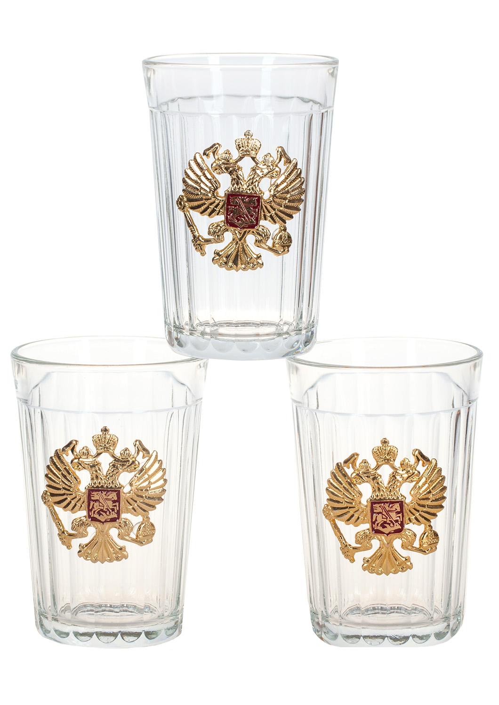 Заказать набор гранёных стаканов с гербом России