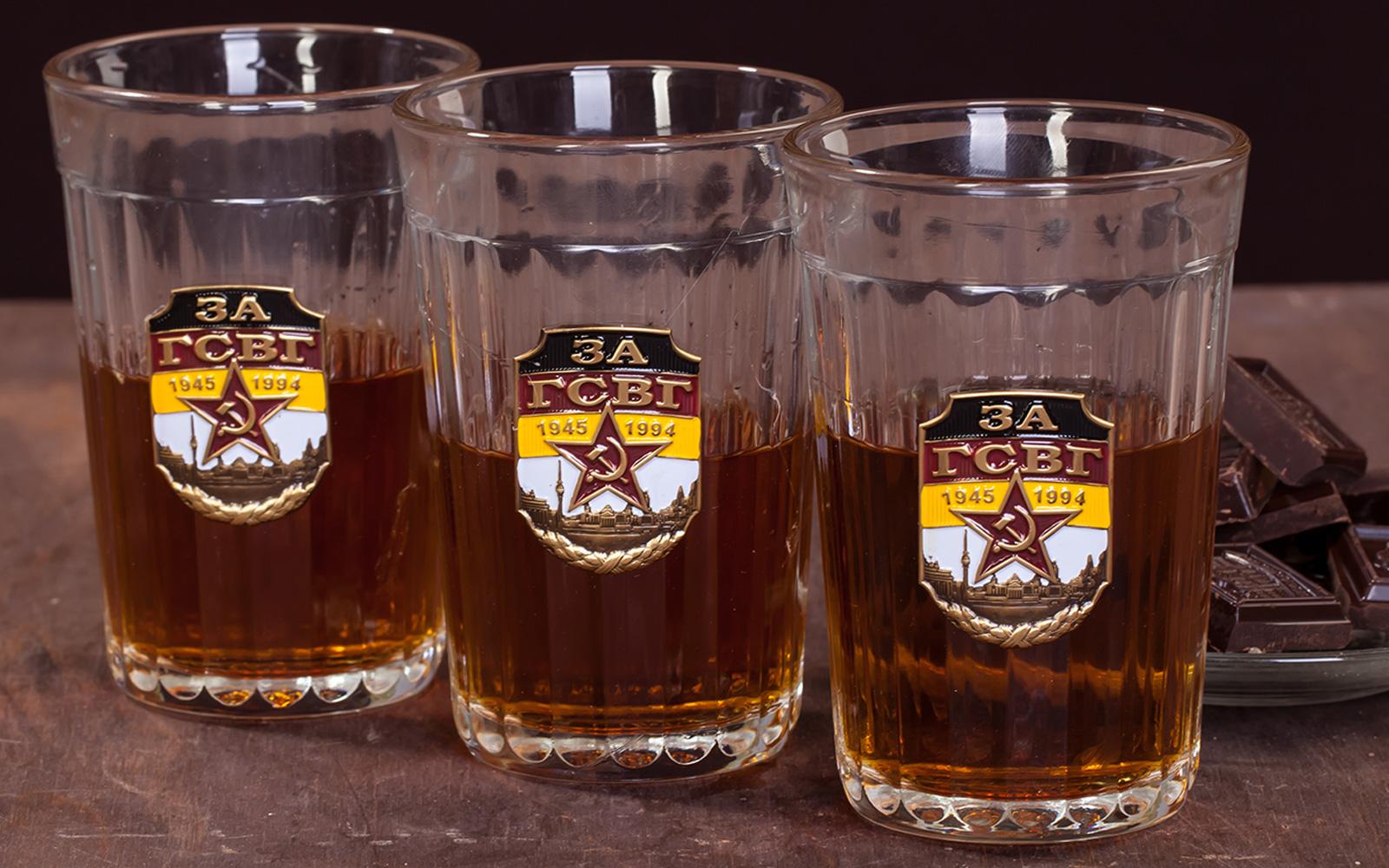Набор гранёных стаканов с накладкой За ГСВГ с доставкой