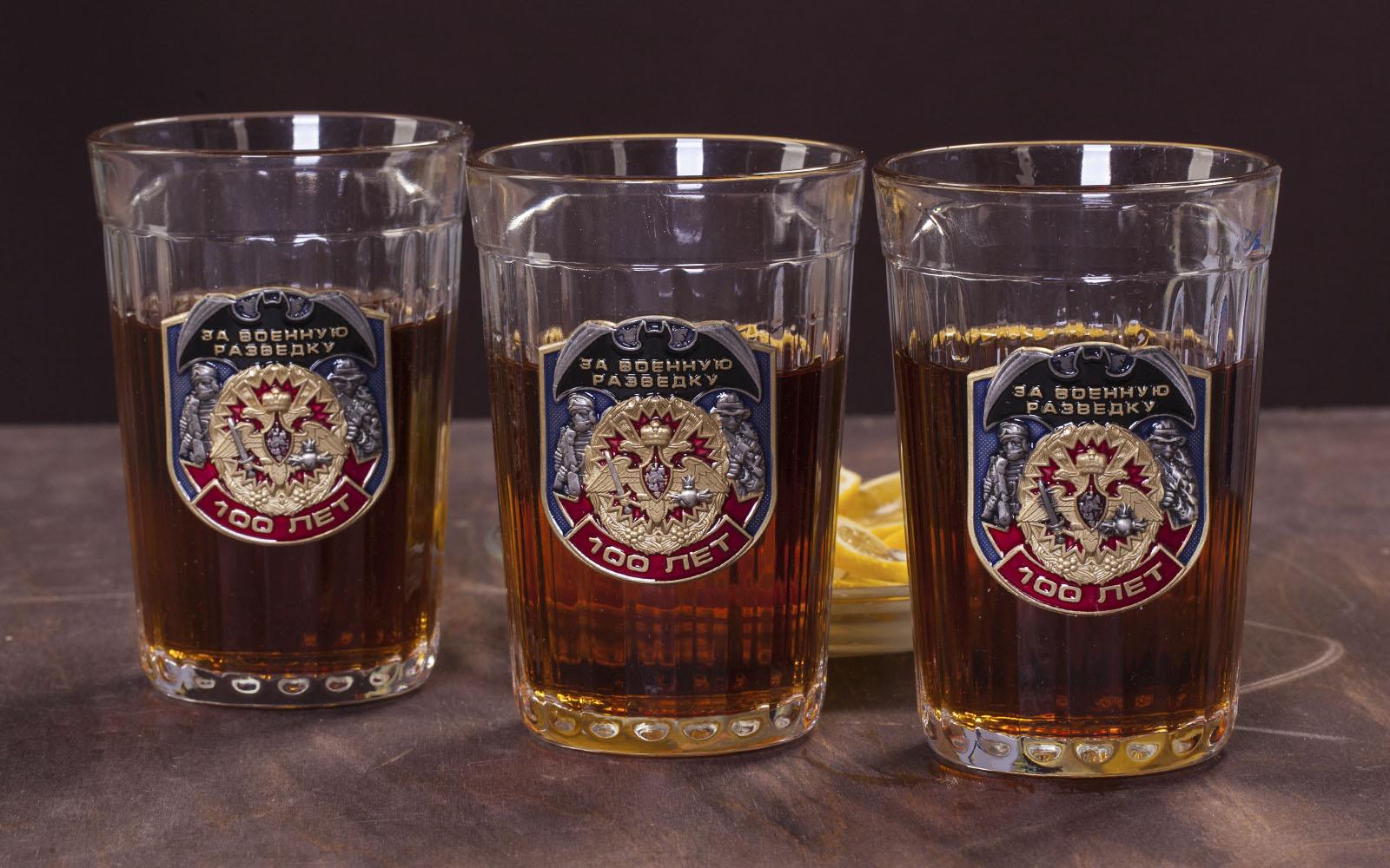 """Купить набор коллекционных стаканов """"За Военную разведку"""""""