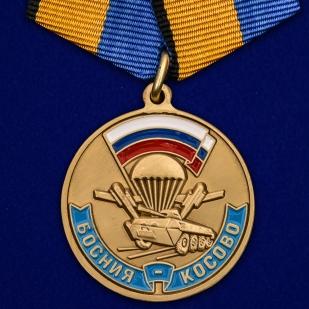 """Медаль """"Участнику марш-броска 12.06.1999 г. Босния-Косово"""