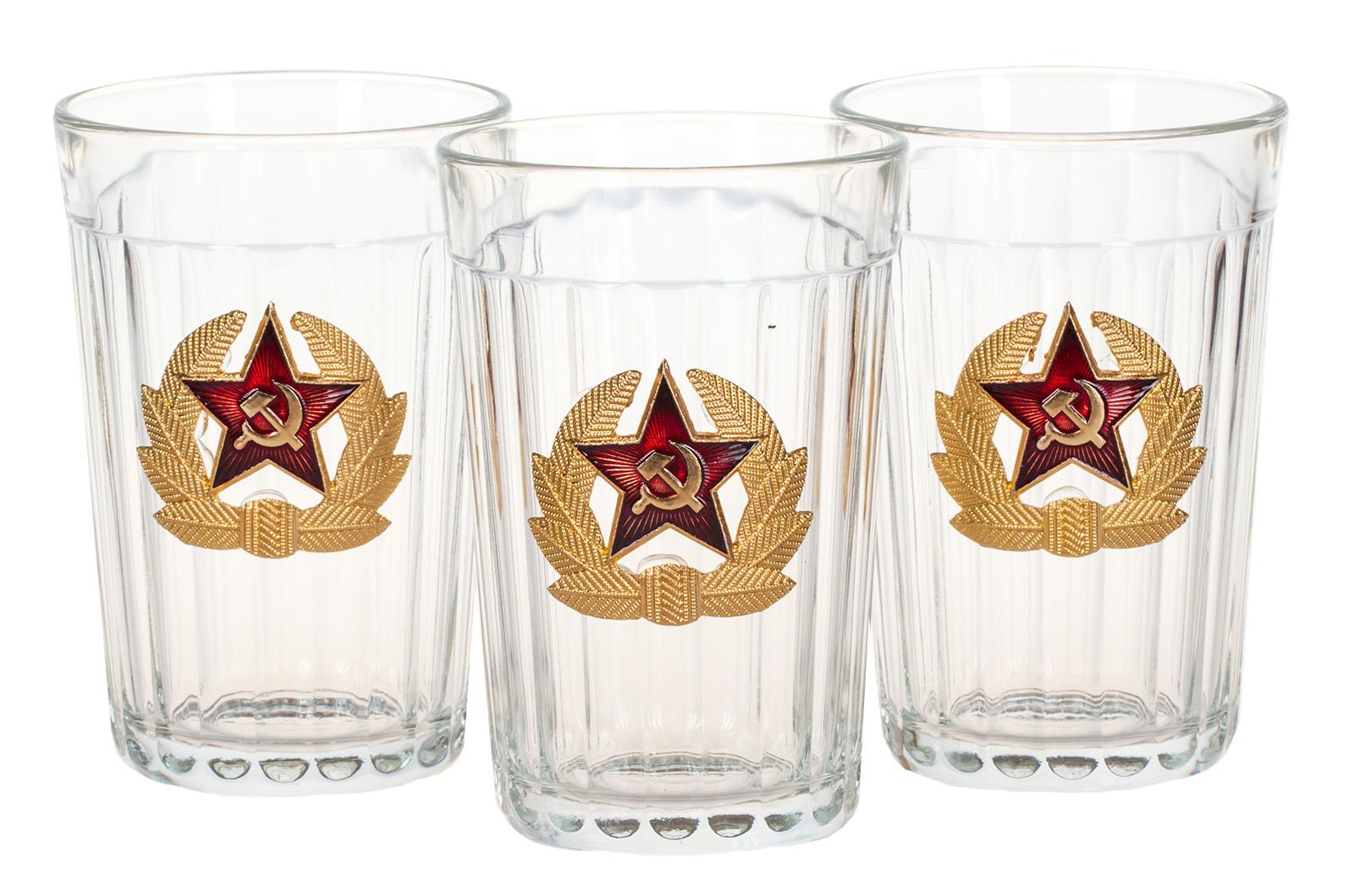 """Набор подарочных стаканов """"Советская Армия"""" по лучшей цене"""
