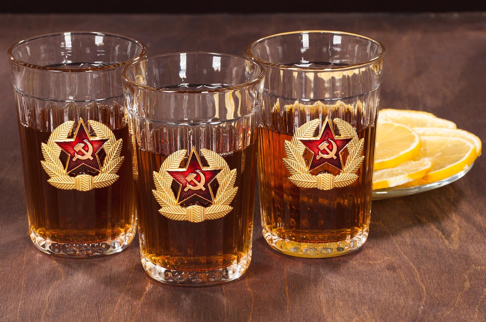 """Заказать набор подарочных стаканов """"Советская Армия"""""""