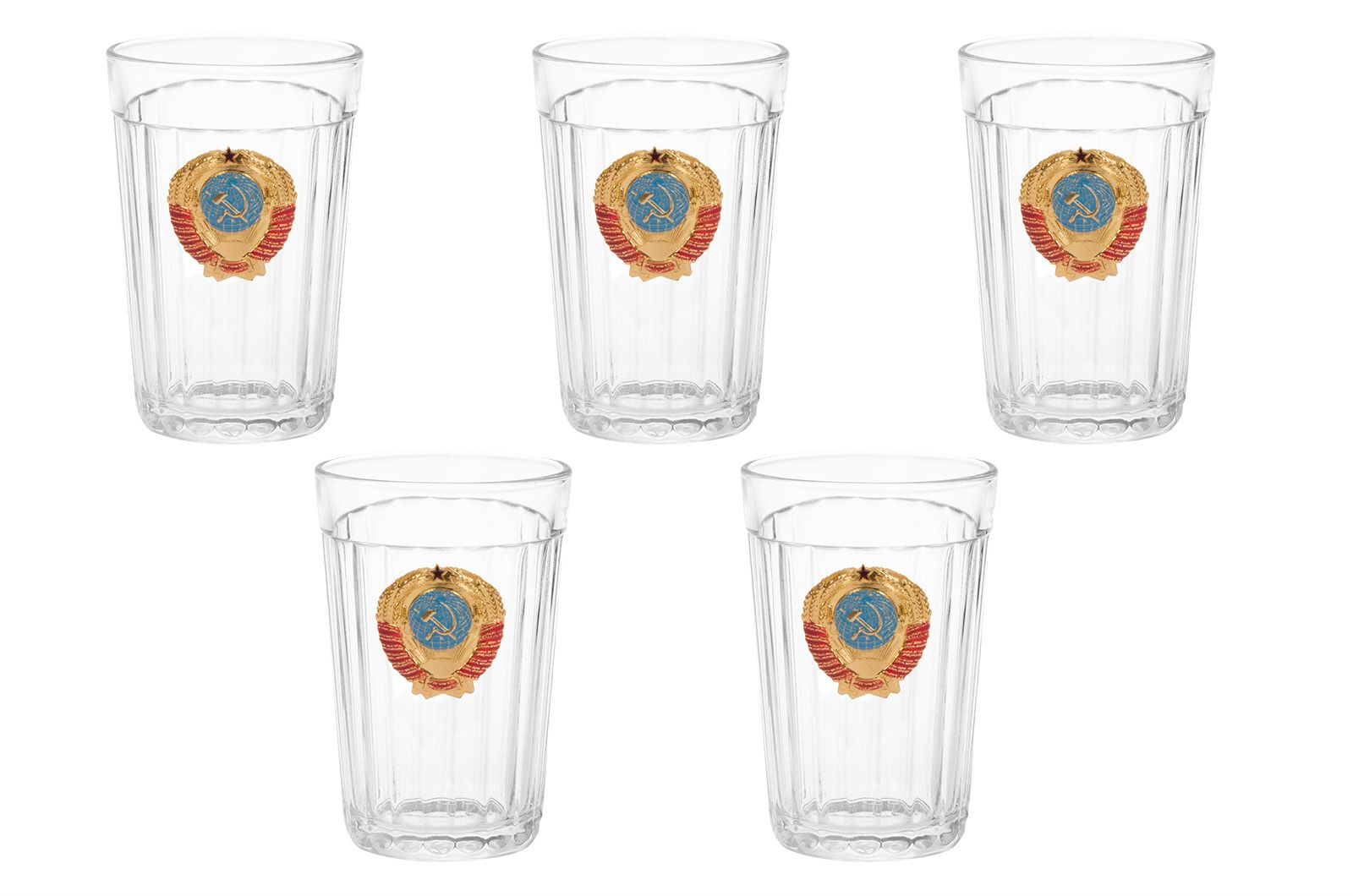 Набор подарочных стаканов СССР (5 шт)