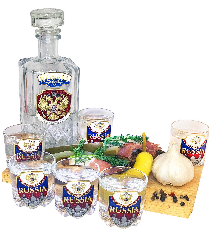 Заказать набор для спиртных напитков RUSSIA