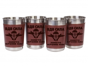 Набор стаканчиков-стопок в коже «ВДВ – СИЛА» по выгодной цене