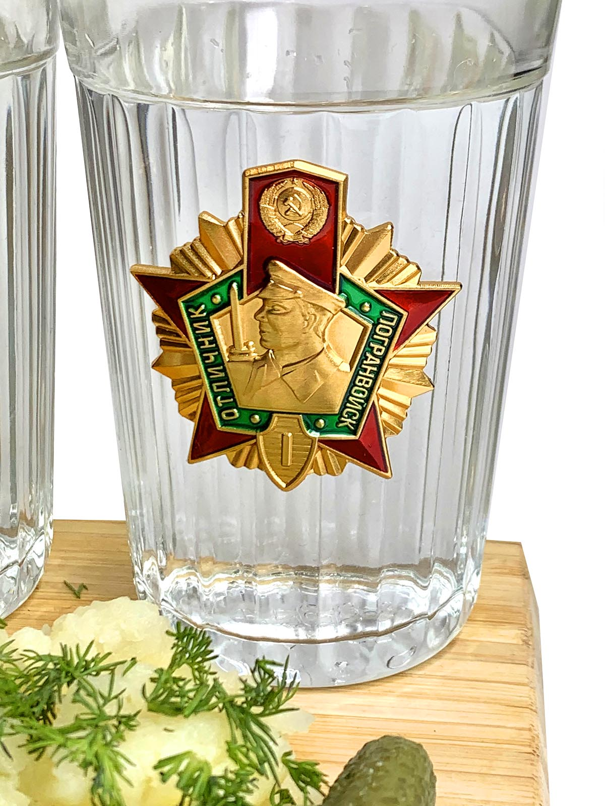 Набор стаканов на подарок пограничнику