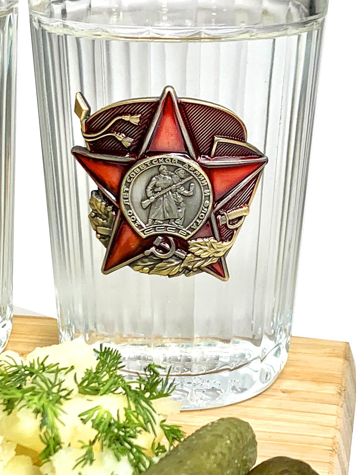 Подарочный набор стаканов Красная Армия