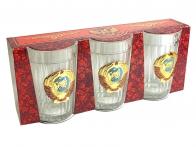 Набор граненых стаканов с гербом Советского Союза