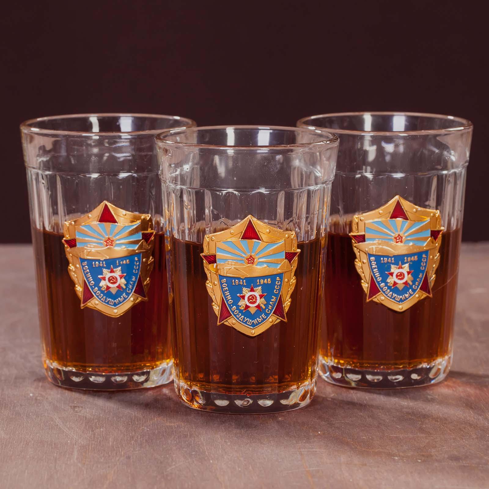 Набор стаканов в подарок ветерану ВВС СССР недорого