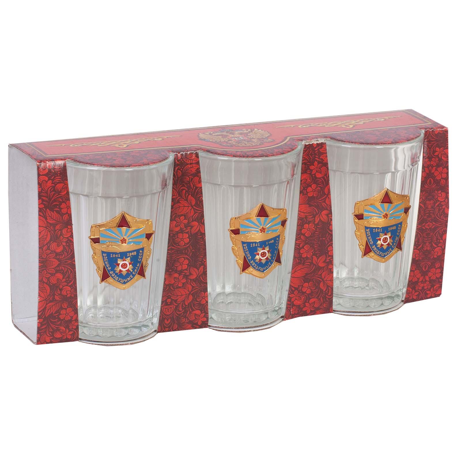 Набор стаканов в подарок ветерану ВВС СССР