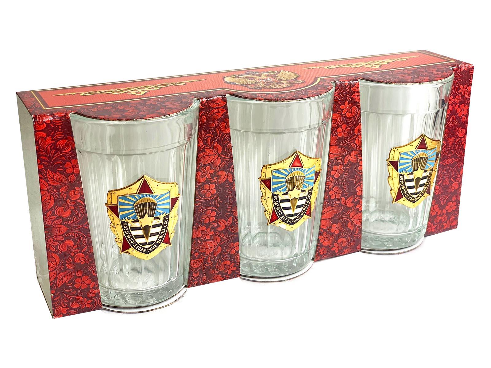 Подарочный набор стаканов ВДВ СССР