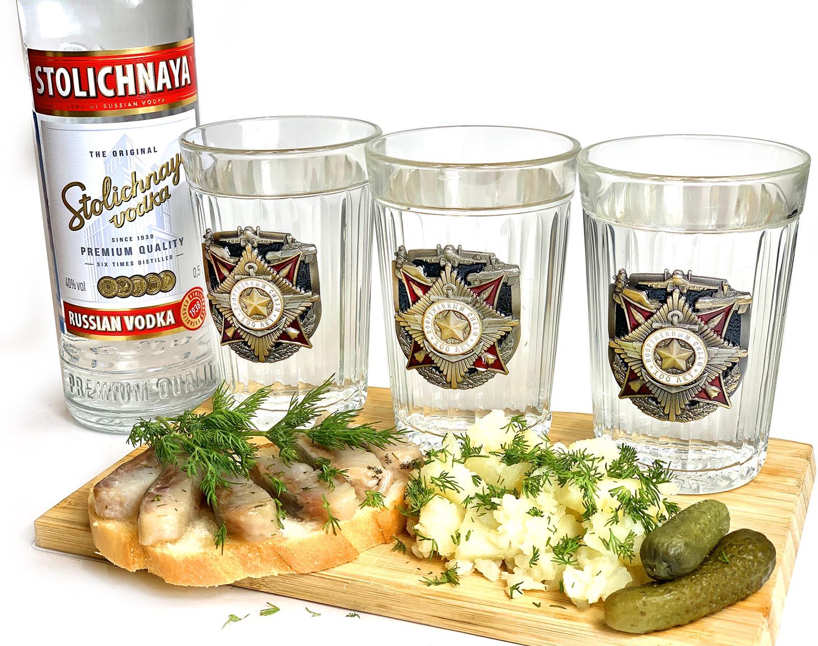 Подарочные стаканы Вооруженные силы