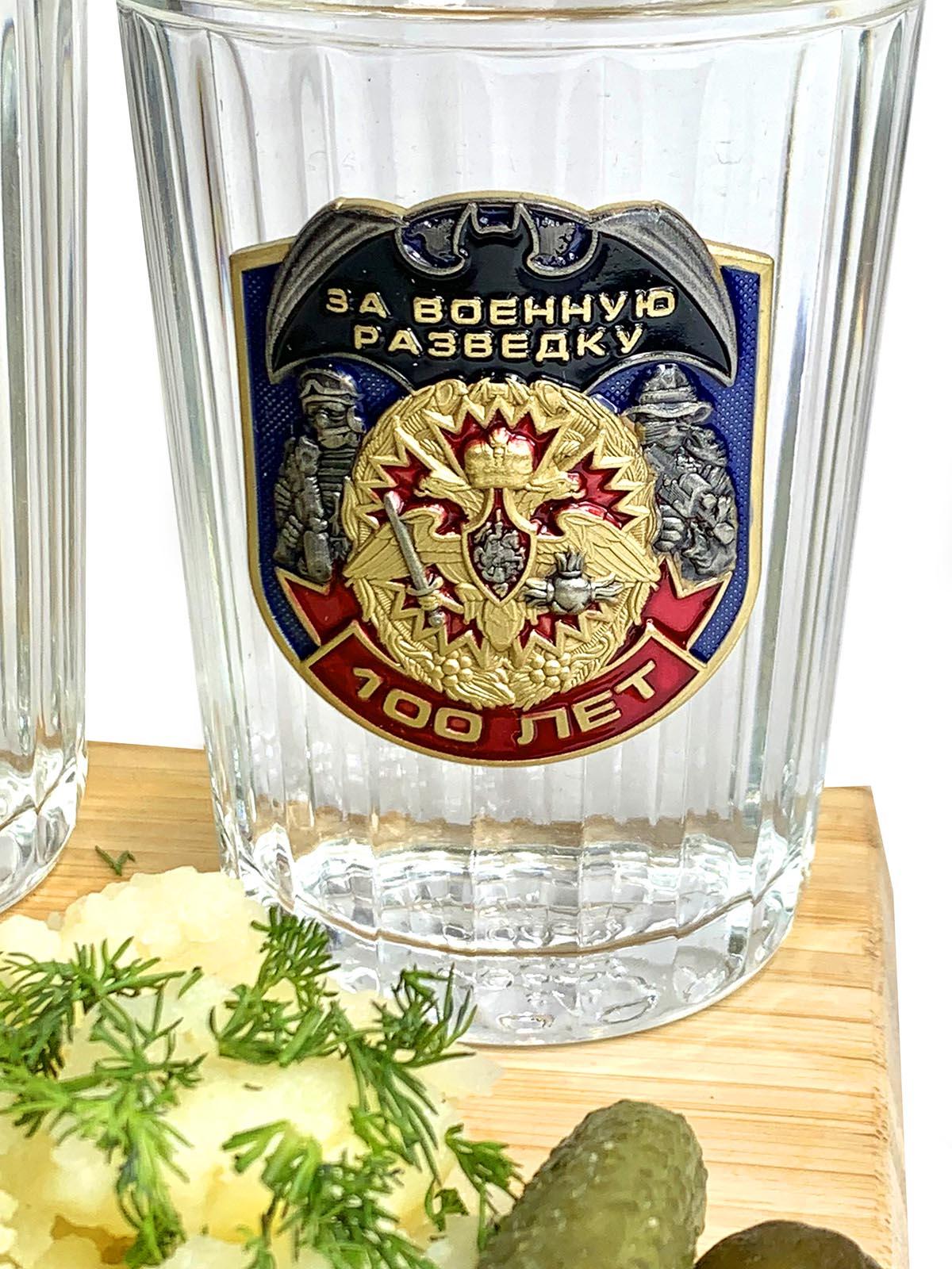 Набор подарочных граненых стаканов Разведка