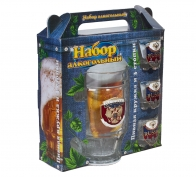 Подарочный стеклянный набор для алкоголя RUSSIA