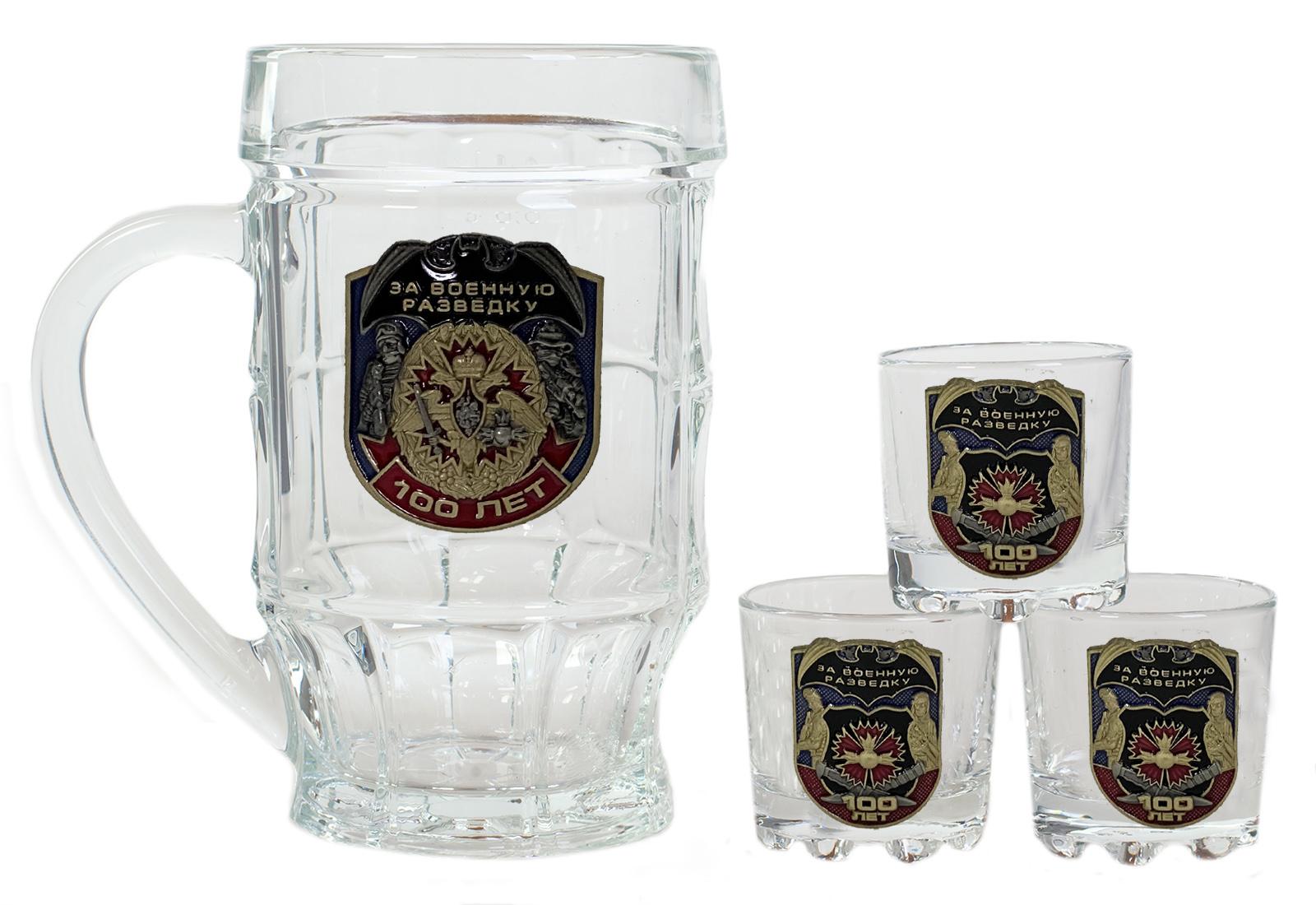 Набор стеклянный для алкоголя За Военную разведку