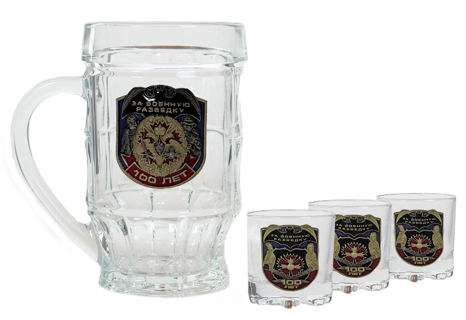 Купить набор стеклянный для алкоголя За Военную разведку
