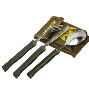 Стратегический набор столовых приборов РОСГВАРДИЯ: 3 в 1 – вилка, ложка нож.