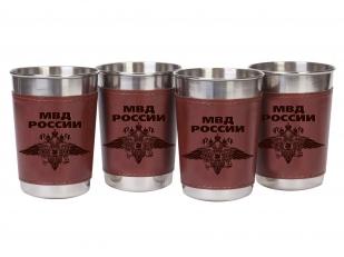 Подарочный набор походных стопок-рюмок в чехлах МВД России по лучшей цене