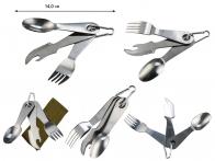 Набор Бундесвера Mil-Tec 4-в-1: Вилка-Ложка-Нож-Открывалка