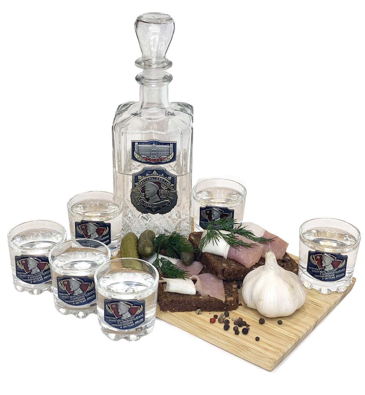 Подарочный набор для крепких напитков ВЧК-КГБ-ФСБ Дзержинский