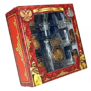 Презентабельный набор для спиртных напитков Танковые войска