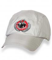 Надежная белая бейсболка с термотрансфером Красная Армия