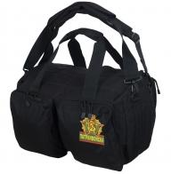 Надежная черная сумка-баул Погранвойска - заказать выгодно