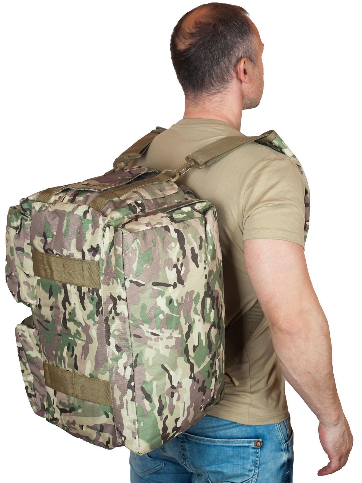 Надежная камуфляжная сумка с нашивкой Танковые Войска - купить с доставкой