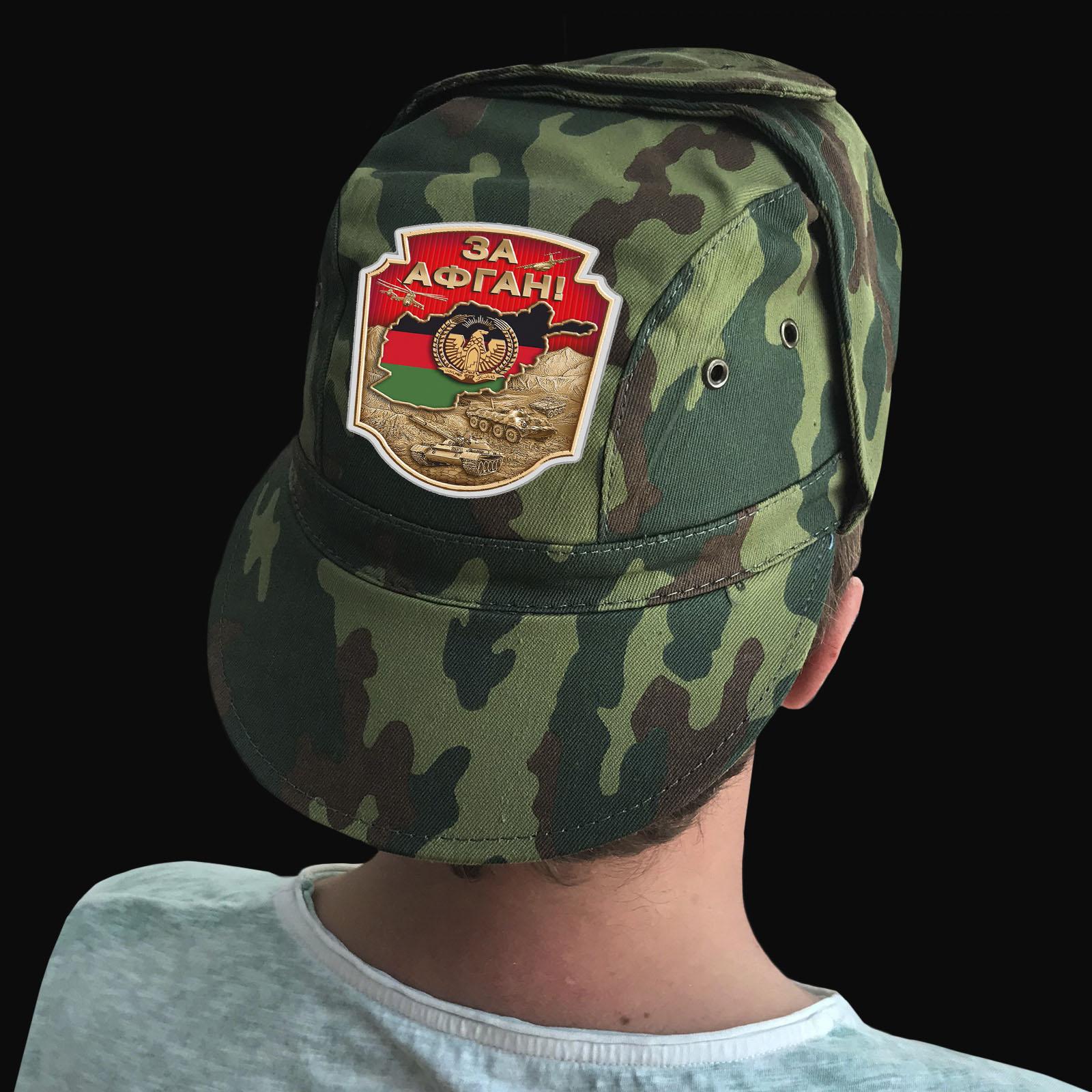 Купить надежную кепку-камуфляж с термотрансфером За Афган оптом или в розницу