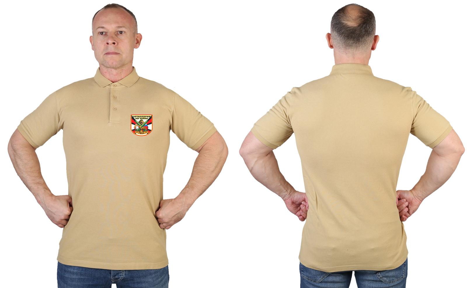 Купить надежную мужскую футболку-поло с термонаклейкой РВиА с доставкой