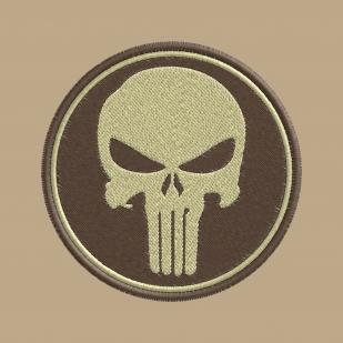 Надежная мужская футболка с вышивкой полевой Каратель
