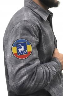 Надежная рубашка с вышитым казачьим шевроном Елень - заказать в подарок