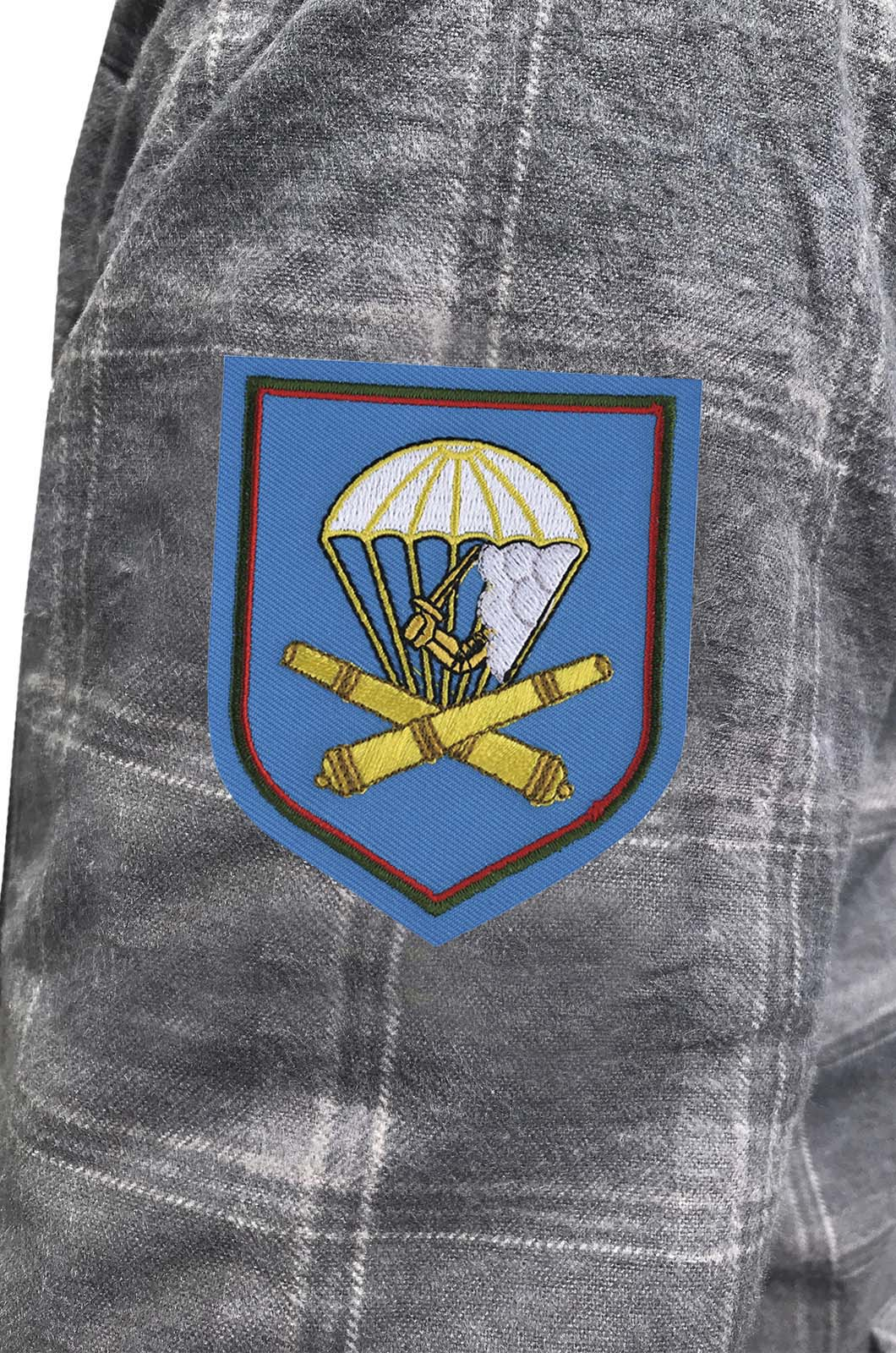 Надежная рубашка с вышитым шевроном 1065 Артполк 98 ВДД ВДВ - купить в подарок