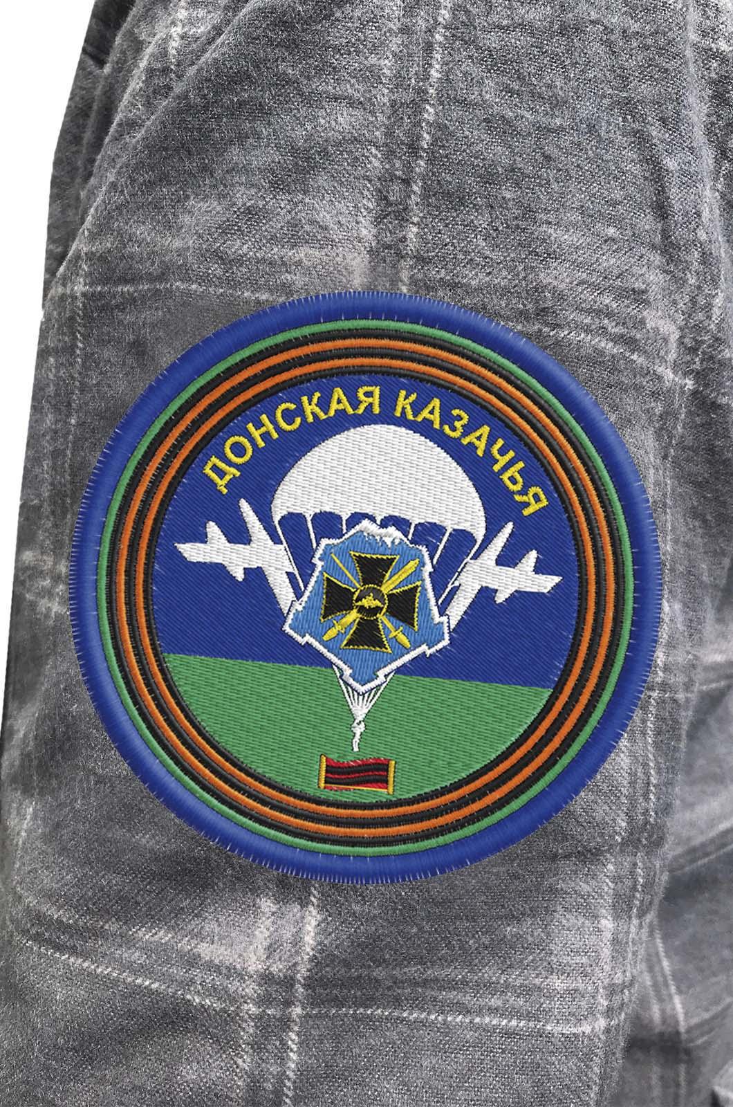 Надежная рубашка с вышитым шевроном Донской Казачьей - купить по лучшей цене