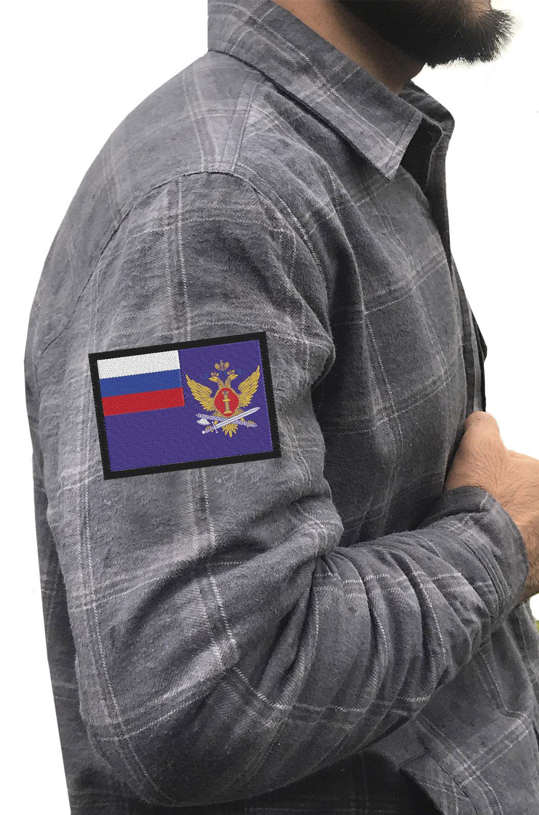 Надежная рубашка с вышитым шевроном ФСИН - купить по низкой цене
